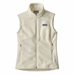 Patagonia Synchilla vest, birch white, size XS